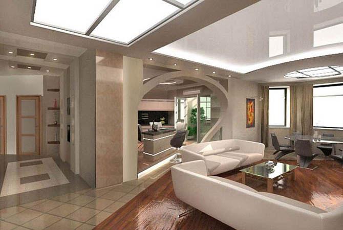интерьер и дизайн квартир хай-тек фото