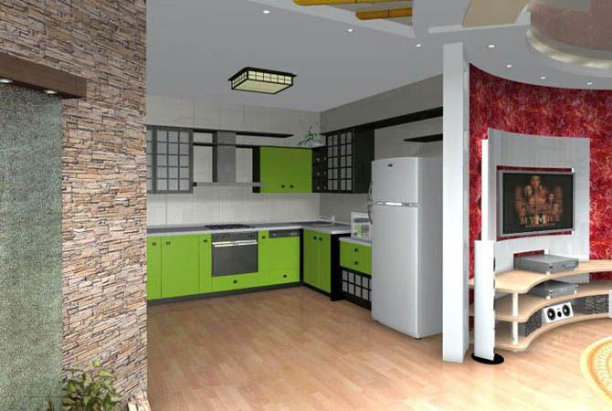 переланировка и дизайн однокомнотной квартиры