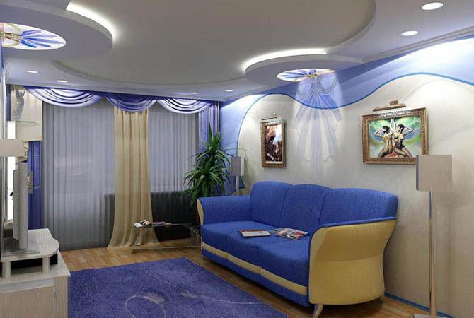 варианты дизайнерского решения ремонта однокомнотной квартиры