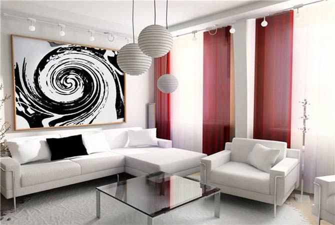 серо розовый дизайн квартиры