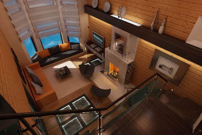 дизайн интерьера коттеджа и загородного дома