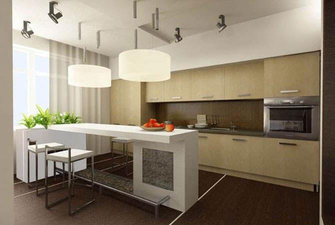 Дизайны кухни без окна