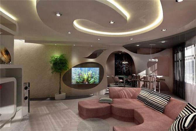 дизайн квартир отделка потолков