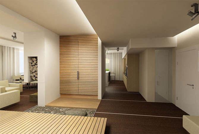 дизайн комнат оклеенных обоями