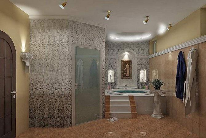 ремонт и дизайн интерьеров ванной комнаты фото